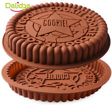 """9"""" CHEF AID Silicone Cake Pan Tray Mould Home Bakeware Round Baking Ovenware"""