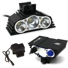 SolarStorm 3 x CREE XM-L T6 LED Bicycle Lamp 12000LM Outdoor Headlight Bike Kit