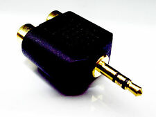 From OZ Quality 1PC 2Two RCA Female to 3.5mm Male Stereo Audio Adaptor Connector
