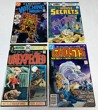 DC Horror Lot >4 -WITCHING HOUR 79/House Of Secrets 138/Unexpected 168/Ghosts 55