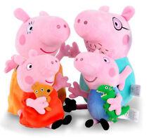 "4Pcs Peppa Pig Family Plush Doll Stuffed Toy 12"" DADDY MOMMY 8"" PEPPA GEORGE"