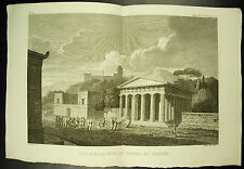 Vue du temple de Thésée Temple of Theseus c 1790 Bourgeois Del Pillement sc