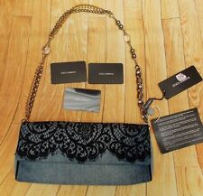 DOLCE & GABBANA DENIM & LACE BEADED CHAIN SHOULDER BAG>BNWT>GENUINE>£450+>