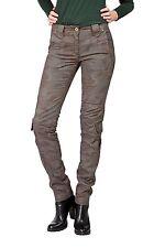 Gerades-Bein Damen-Hosen im Cargo, Militär-Stil mit Mittel und Baumwollmischung