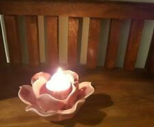 Lotus Tea Light Candle Holder,Solid Ceramic,Beautiful Home Decor or Wedding Gift