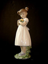 Estate LLADRO Figurine #8021 FLOWERS FOR MOMMY Jewels Collection No Box Mint