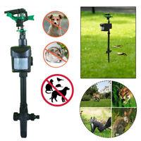 Solar Motion Activated Animal Pest Repeller Chaser Deterrent Repellent Sprinkler