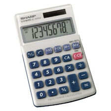 Sharp SILVER 8 Dígitos Calculadora de Bolsillo de Mano EL240SAB