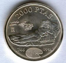 Juan Carlos 1º 2000 Pesetas Plata. 1996 Goya La Maja