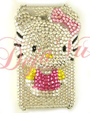 IPHONE 4/4S CRYSTAL BLING RHINESTONE PINK 3D HELLO KITTY COVER CASE
