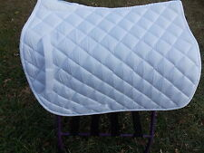 UNION HILL ENGLISH ALL PURPOSE SADDLE PAD HORSE WHITE WHITE PIPING