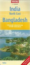 Nelles India North East & Bangladesh Map *FREE SHIPPING - NEW*