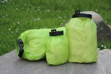 3 Packtaschen Cordura DRY-BAGS 8/4/1 l wasserdicht ultraleicht Seesack Packsack