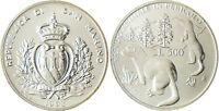 SAN  MARINO  SAINT  MARIN   500  LIRE  ARGENT  1993  ANIMAUX   FLEUR  DE  COIN
