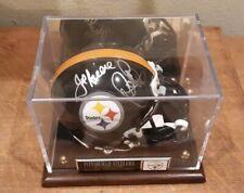 Steel Curtain Greene Holmes White Greenwood Signed Mini Helmet Display Steelers