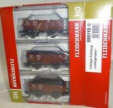 3er Set Güterwagen Omp DRG EpII Fleischmann 590110 H0 1:87 OVP NEU KB1 µ *