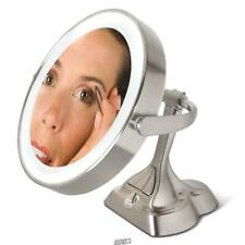 The Articulating Variable Light Mirror Zadro dimmable Led nickel finish lvar410