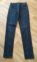 Next Skinny Stretch  Jeans Size 8r 29L Ladies Womens Dark Blue Indigo
