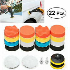 22PCS 3-Inch Polishing Pad Sponge Buff Buffing Kit Set For Car Polisher Tools US