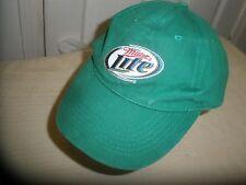 Miller Lite Green Cap Hat with Adjustable Strap