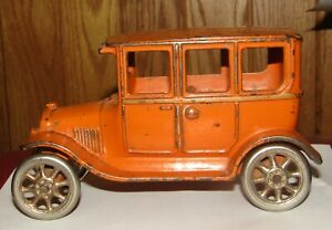 "1920 Original Cast Iron Arcade Mfg Co 4 Door Model T Ford Toy Automobile 6 1/2"""