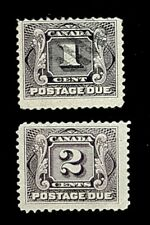 1906 Canada Postage Due Stamps J1 & J2! 1c & 2c