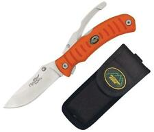 New Outdoor Edge Flip n' Blaze Skinning & Gutting Blade Knife Orange FZB-20C