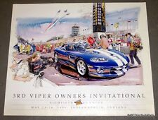 1996 Dodge Viper  VOI Poster GTS RT/10 Indy 500 Pace Car