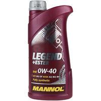 1 Liter Orignal MANNOL Motoröl SAE 0W-40 LEGEND+ESTER Engine Oil Öl