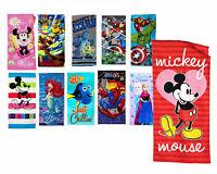Children's Bath Beach Towel Mickey Minnie Frozen Ariel Spiderman Avengers Ninja