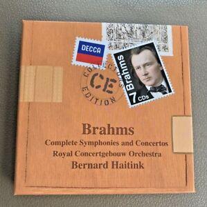 Brahms Complete Symphonies & Concertos  Haitink  Seven CDs. Remastered.