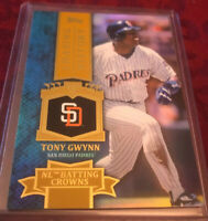 Tony Gwynn 2013 Topps Chasing History Holofoil Gold #CH-28, San Diego Padres