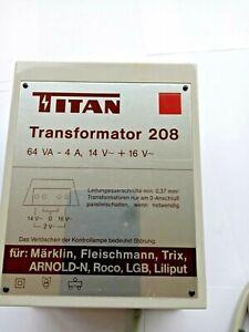 Titan Typ 208 Trafo 64 VA für Märklin, Fleischmann, Trix, LGB, Roco, Arnold-N