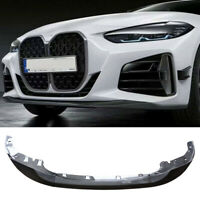 For 2021 New BMW 4 Series G22 Coupe M Performance Front Bumper Lip Carbon Look