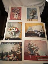 German impressionist Dietz Edzard (1893-1963) 6 litho prints Flowers and Music