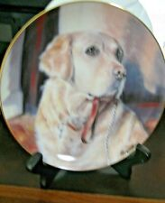 """Danbury Mint Golden Companions Dogs Collector Plate """" Entitled Taking The Lead"""""""