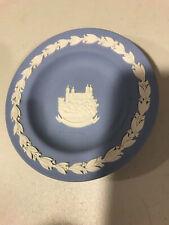 Wedgewood blue Jasperware Tower of London small round dish