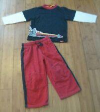 Rare Vtg Gymboree boys Race Car top & red athletic sweat pants boys sz 3T Pocket
