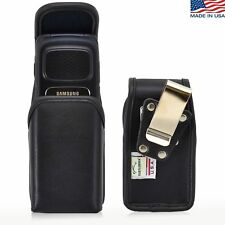 Turtleback Samsung Rugby 4 Vertical Black Leather Phone Pouch Holster Case