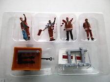 Preiser (HO 1:87)  Road Repair 4 Man Crew w/Wagon & Accessories  #10347