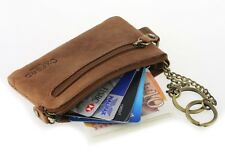 Genuine Leather Coins Purse Key holder, pouch for CARD, Cash RFID mini Wallet ,