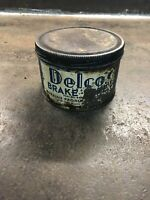 Rare Vintage Delco Brake Lubricant Can Tin Automotive Advertising Garage