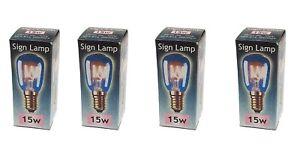 4 Bulbs - LAMP Pygmy SES 240v  15w        SES