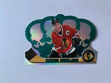 1997-98 Crown Royale Emerald Green #28 Chris Chelios - Chicago Blackhawks