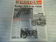 REVUE MOTOS D'HIER N° 10 FEVRIER 1999 /RUDGE 500S 1928/TERROT 350 HCT 1948