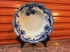 Antique English Johnson Bros Del-Monte Flow Blue Dinner Plate Bowl Scalloped Rim