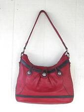 Brighton handbag red pebble leather