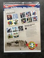 USA Briefmarken Bogen 15x 32 Cent 1998 Celebrate the Century 1930s Stamp Sheet