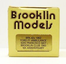 "BROOKLIN 1952 FORD F1 AMBULANCE "" SAN FRANCISCO BAY"" BRK. 42 X  EMPTY BOX ONLY"