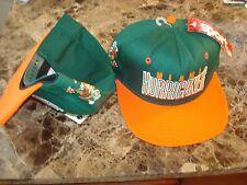 MIAMI HURRICANES CANES AJD WOOL  RARE SCRIPT NEW VINTAGE 90'S HAT CAP  SNAPBACK